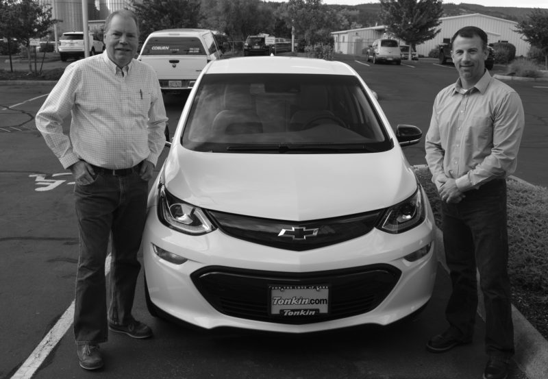 Kurt Conger and Justin Brock with Chevy Bolt