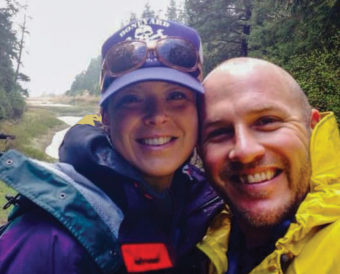 Kenny LaPoint and his wife, Suzannah outside together