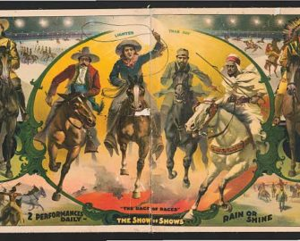 A promotional poster for the show mentions the role power played in small print on the right. Courtesy Library of Congress