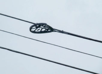 A device attached to the line.