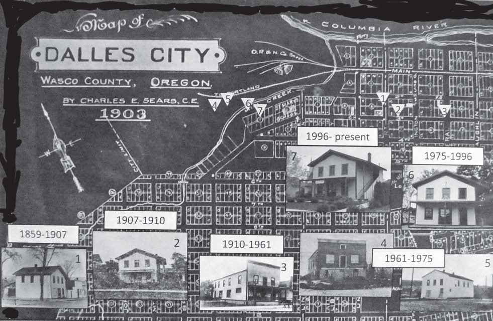 original Wasco County courthouse location map