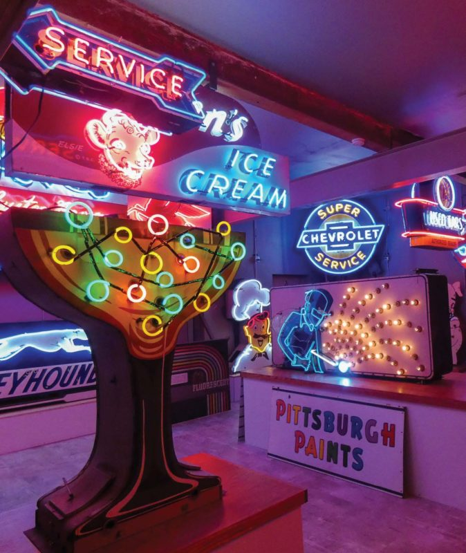 With the help of a grant from Northern Wasco County PUD, the National Neon Sign Museum completed electrical upgrades to a former Elks Lodge built in 1910.