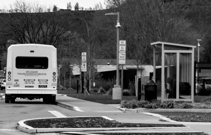 bus parked at a bus stop