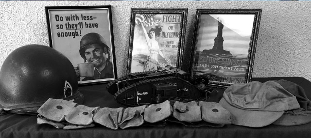 Memorabilia from local veterans will be among the exhibits featured at the Columbia Gorge Veterans Museum. Kathy Ursprung photos